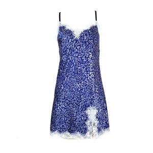 Victoria's Secret | Blue Leopard Lace Night Slip M
